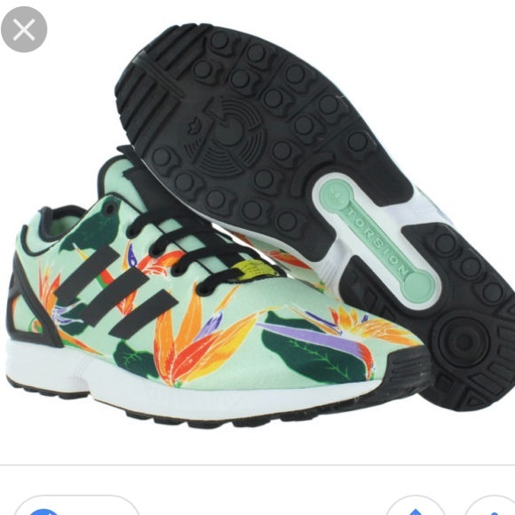 adidas Shoes - Adidas Torsion Shoes ZX Flux Hawaiian Floral Print d7efc2530f
